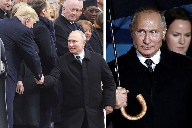 Владимир Путин во время визита в Париж