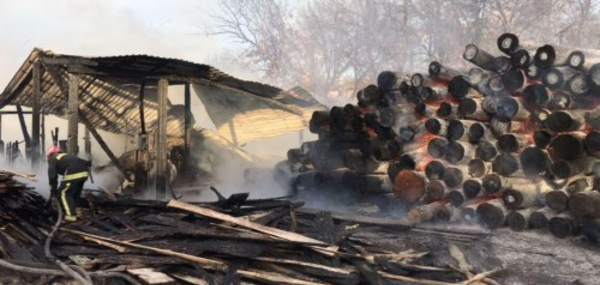 В Харькове вспыхнул мощный пожар: фото и видео