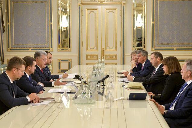 Встреча Петра Порошенко с делегациями США и ЕС