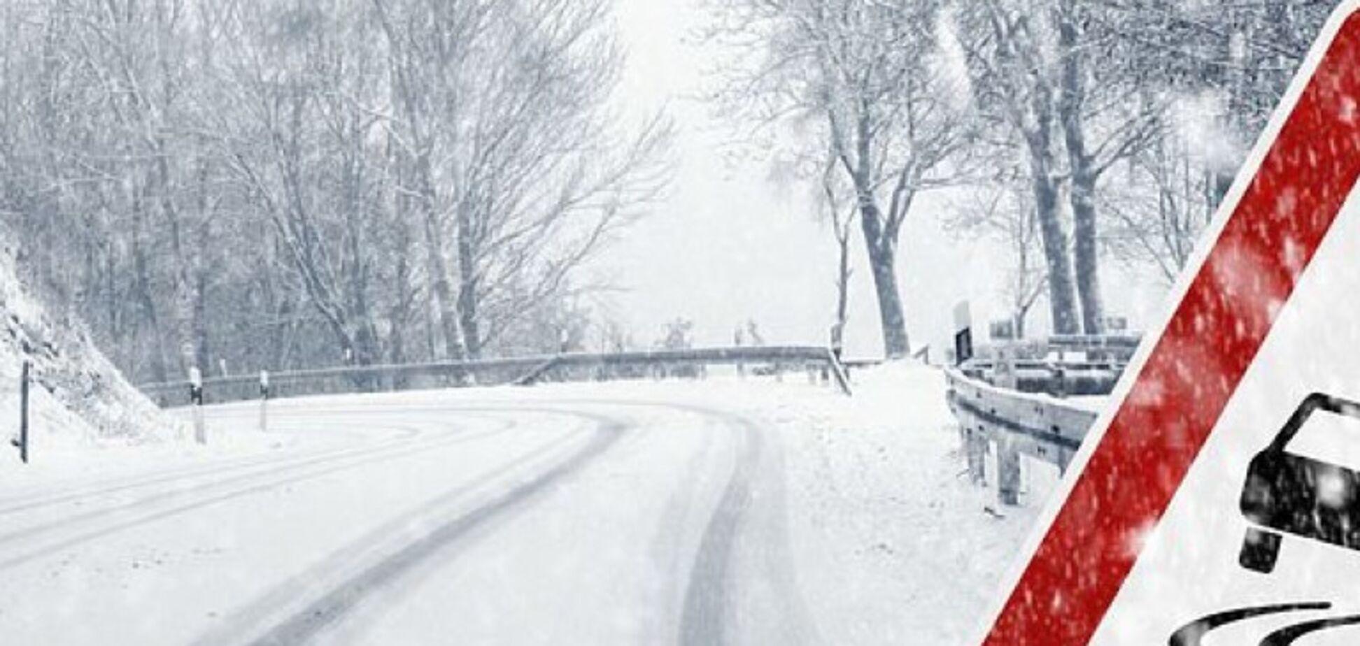 В Украине из-за снега повысится риск на дорогах: где будет опаснее всего