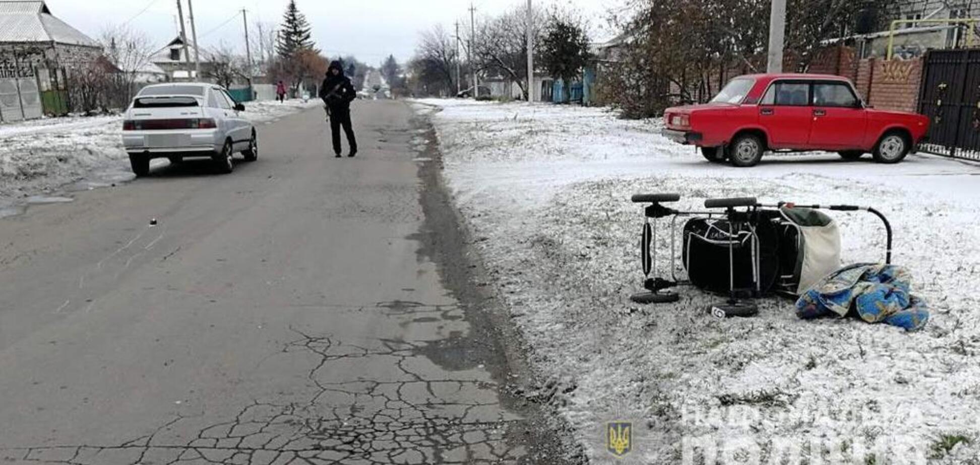 Под Днепром пьяный сбил беременную с ребенком: фото