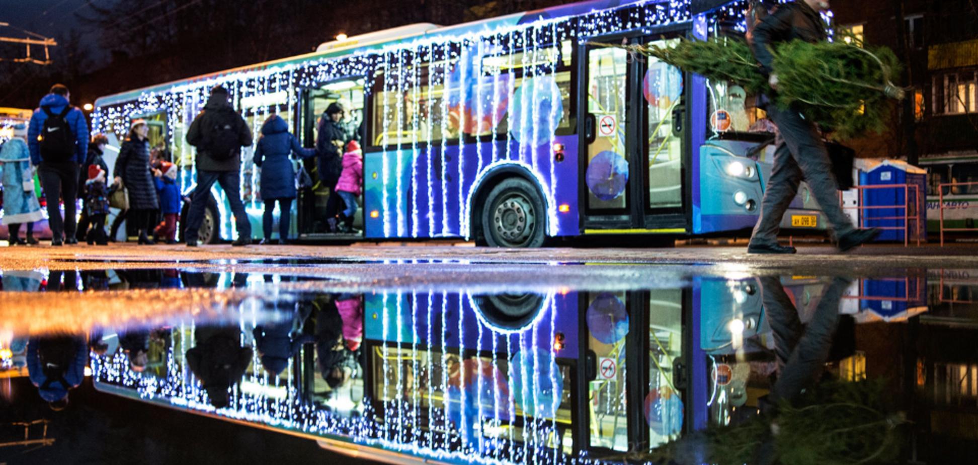 На Новый год в Киеве изменят график работы транспорта: что известно