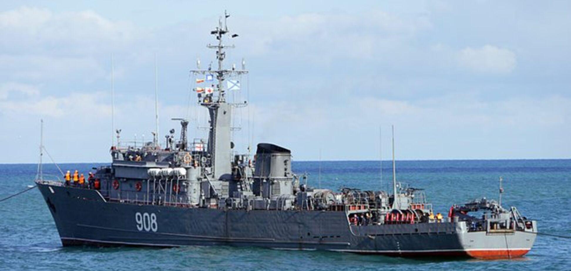 Військовий корабель Росії йде до Азовського моря