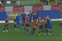 'Шахтер' - 'Динамо': появилось видео массовой драки футболистов