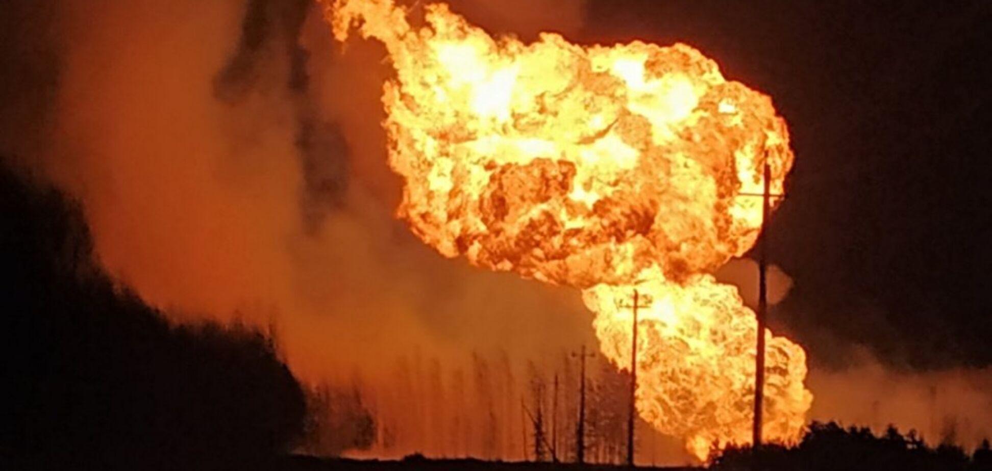 У Росії вибухнув газопровід: перші фото і відео вогняного пекла