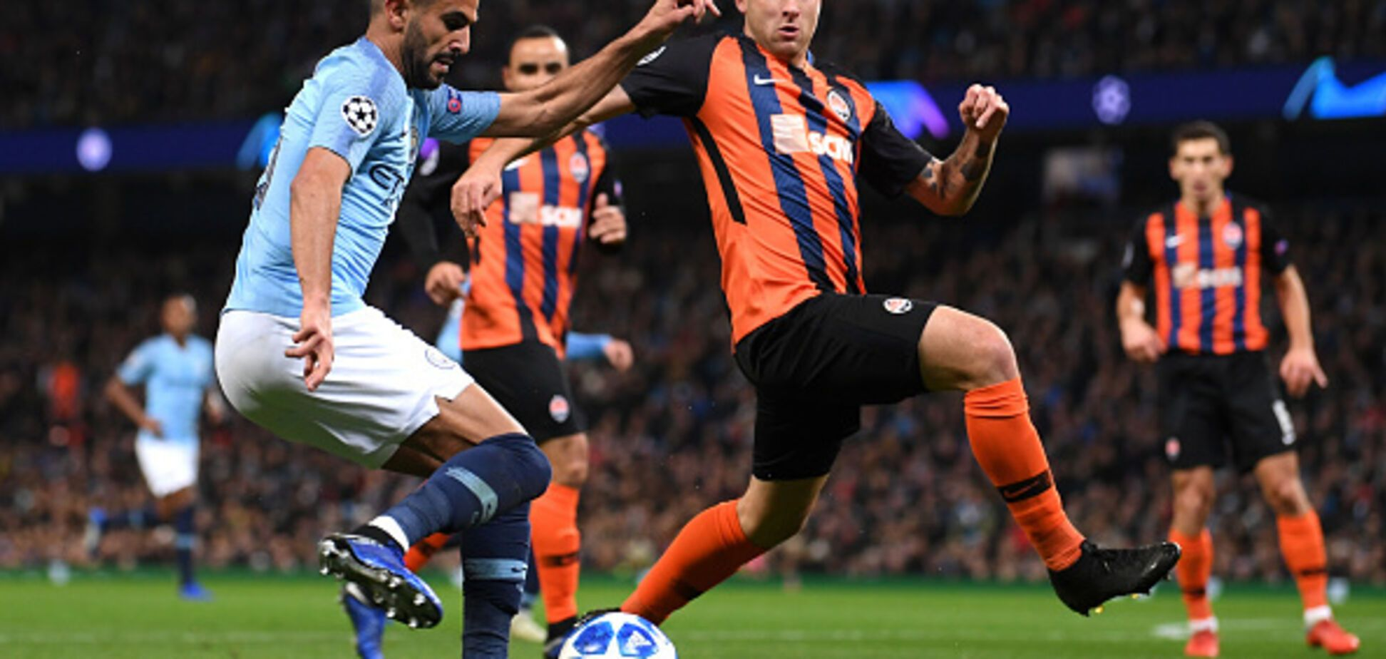 'Шахтер' пропустил шесть мячей от 'Манчестер Сити' в Лиге чемпионов
