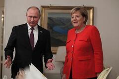 Путин и Меркель