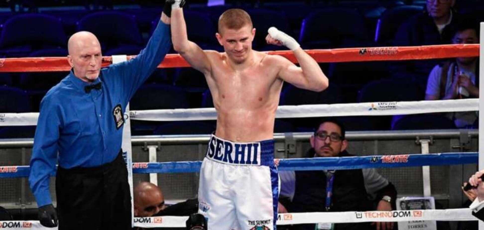 Украинский боксер одержал 12-ю подряд победу нокаутом: видео