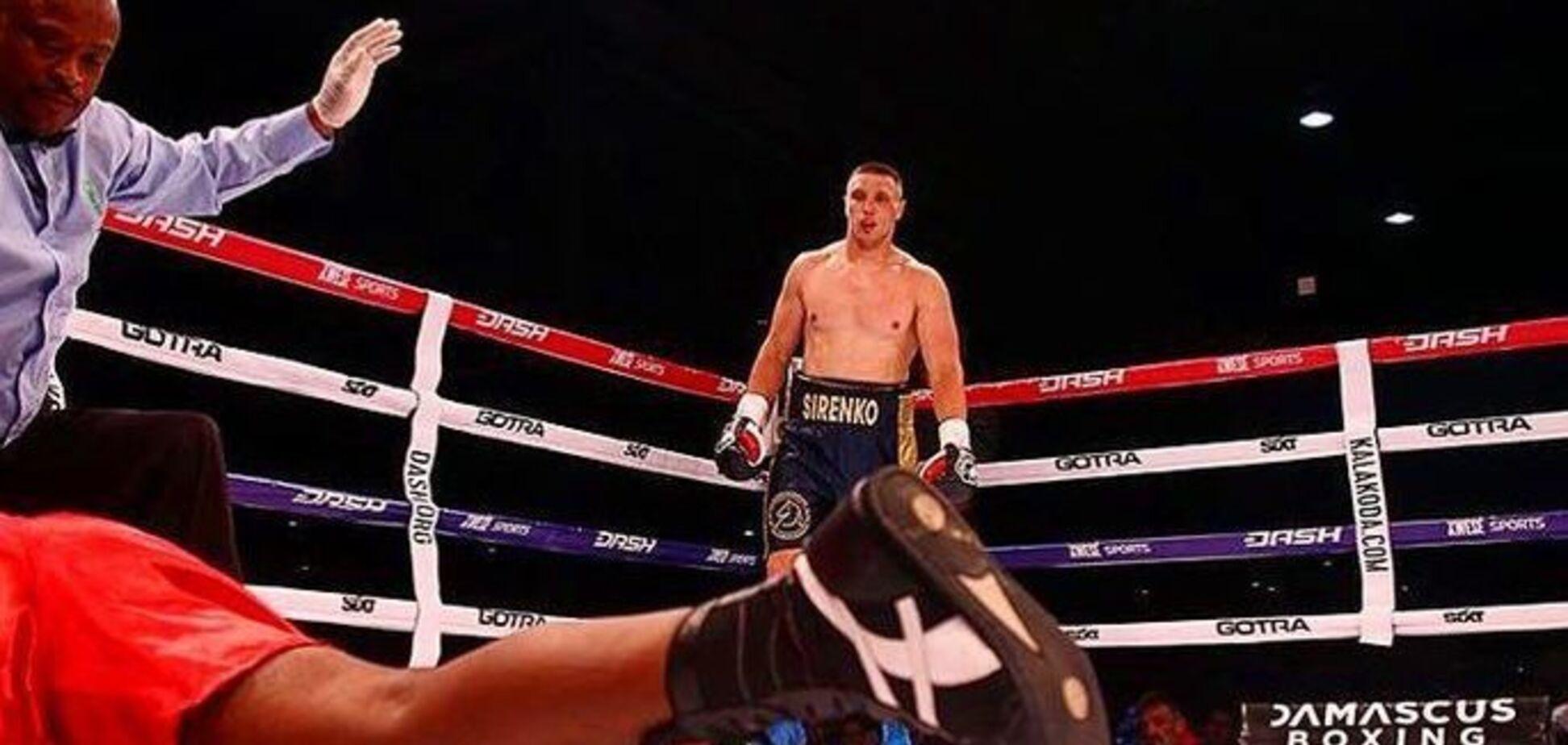 Непобедимый украинский боксер выиграл бой брутальным нокаутом
