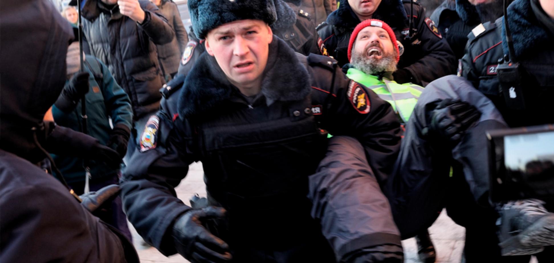 ''Путин, отпусти моряков!'' В Москве провели митинг в поддержку Украины, есть задержанные