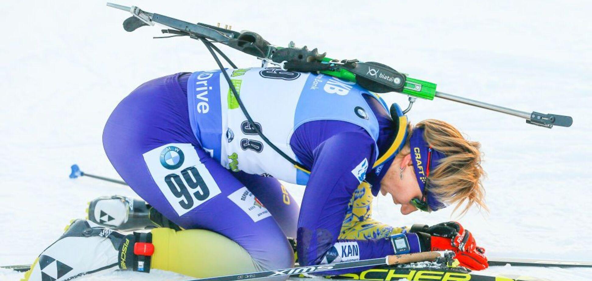 Украинки вошли в топ-10 эстафеты Кубка мира по биатлону