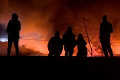 Величезна пожежа на сміттєпереробному заводі у Вроцлаві