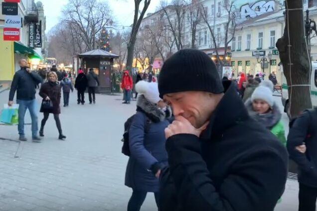 ''Он что убитый?'' В Одессе засняли странное поведение Пашинина