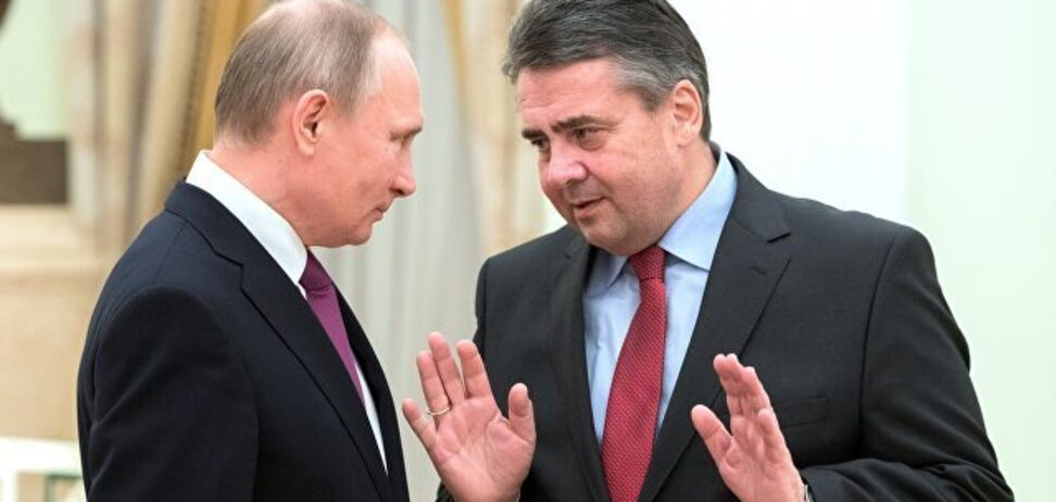 Президент РФ Володимир Путін і екс-міністр закордонних справ Німеччини Зігмар Габріель
