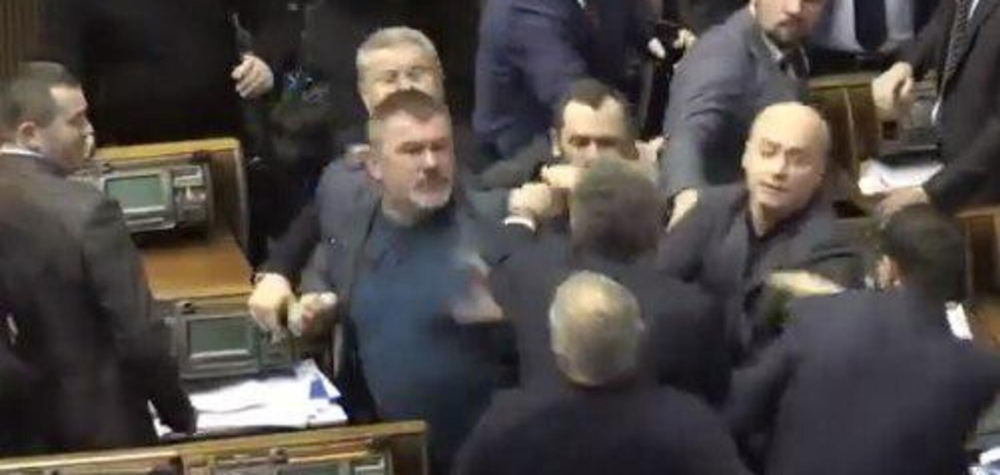 В Раде подрались Береза, Бойко и Шуфрич: появилось видео
