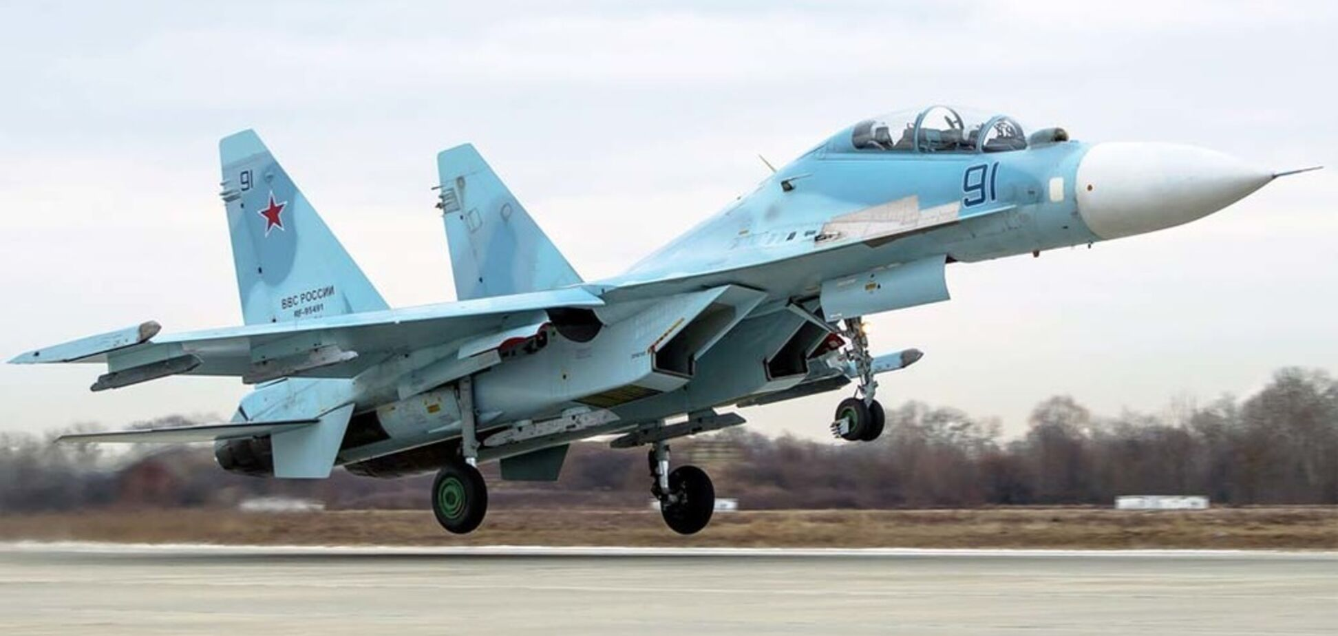 Висадка найпотужніших винищувачів Росії у Криму: з'явилося нове відео