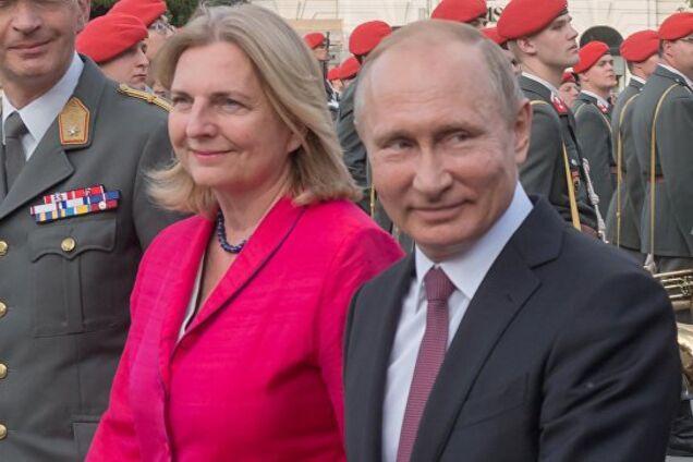 Карин Кнайсль и Владимир Путин