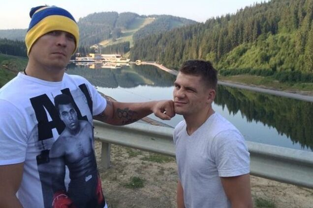 Александр Усик и Денис Беринчик