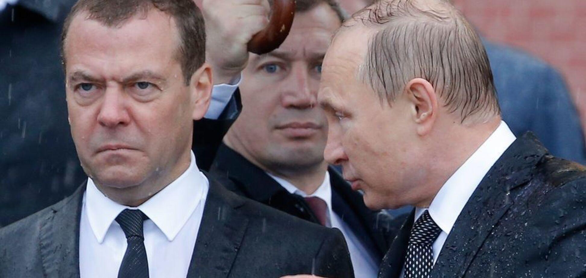 ''Медведєв пішов проти Путіна'': Кремль викрили у розколі влади
