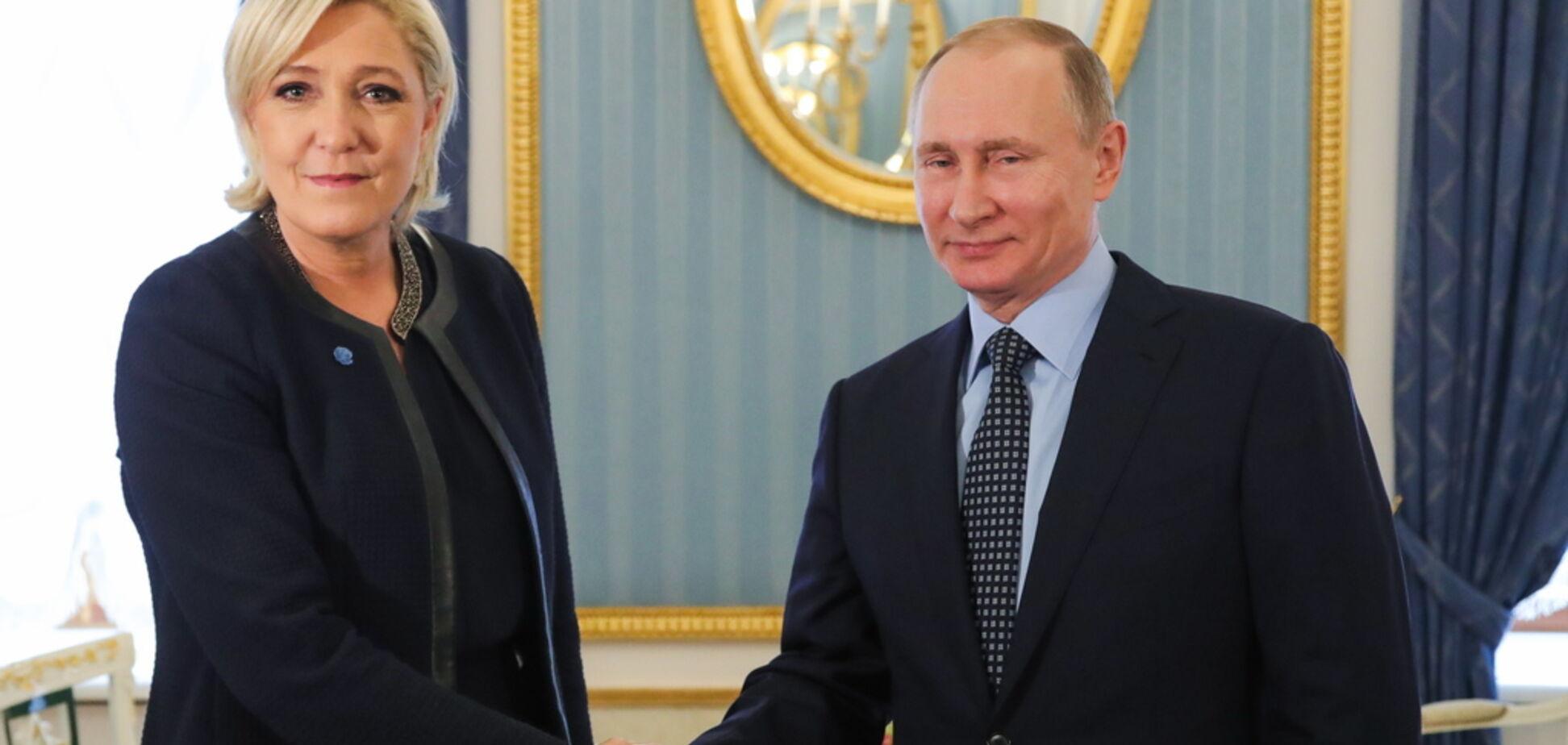 Подругу Путина Ле Пен финансировали связанные с Украиной россияне