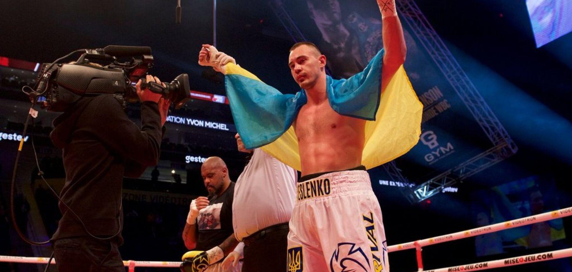 Непобедимый украинский боксер выиграл бой нокаутом