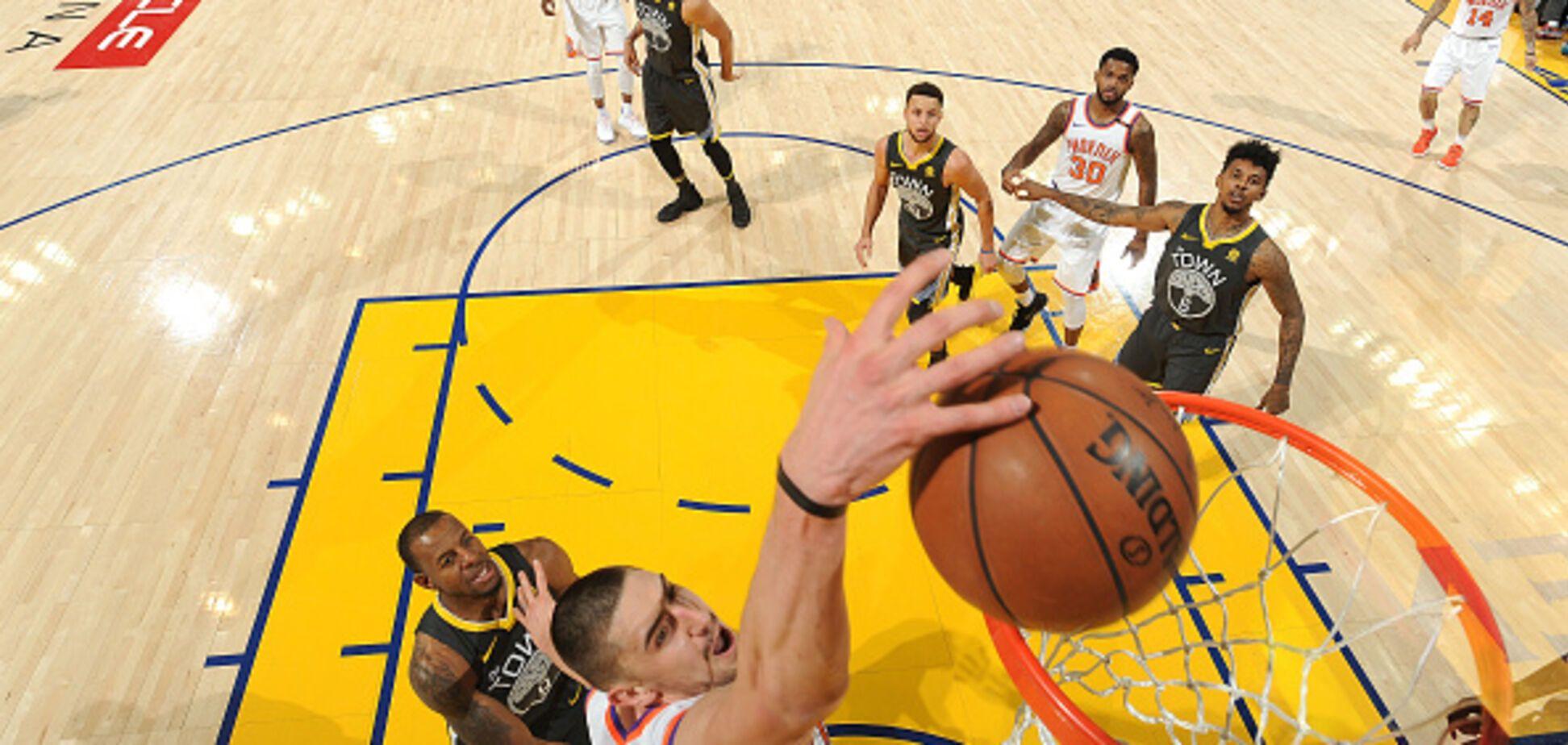 Игрок сборной Украины вошел в топ-3 матча НБА