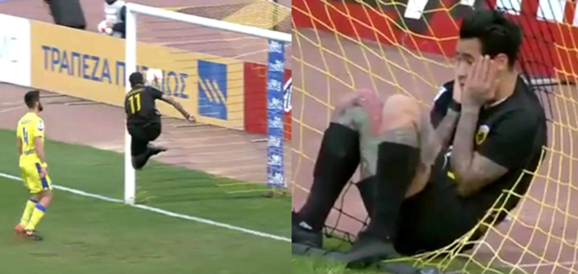 Футболіст АЕКа дико осоромився перед матчем з 'Динамо' в Лізі Європи: відео фейлу