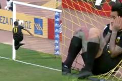 Футболист АЕКа дико оконфузился перед матчем с 'Динамо' в Лиге Европы: видео фейла