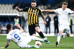 Питбули в Афинах: 'Динамо' стартовало в плей-офф Лиги Европы