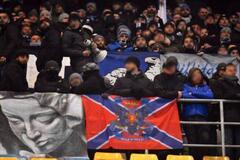 Фанаты на матче Лиги Европы вывесили флаг 'Новороссии'