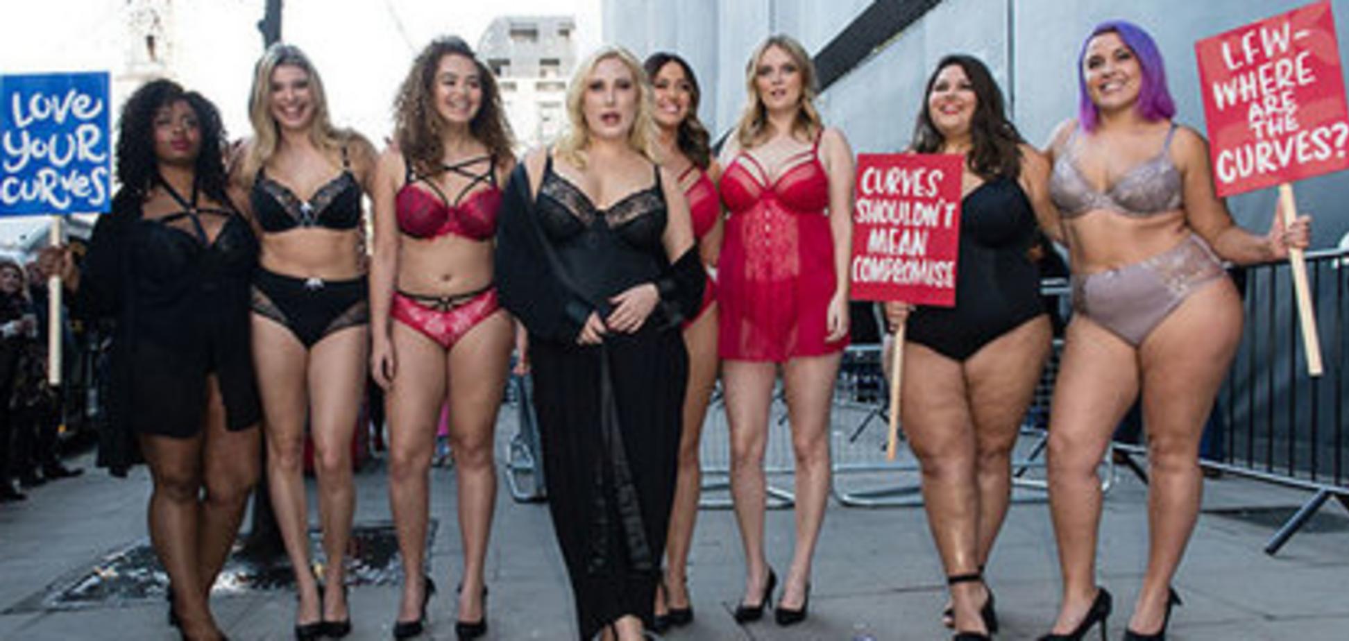London Fashion Week: пишнотілі активістки оголилися на знак протесту