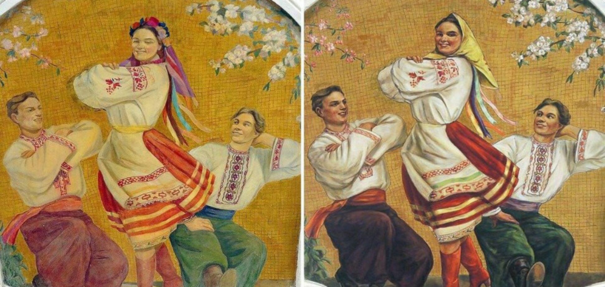 'Сегодня веночек, завтра – Правый сектор': в сети высмеяли россиян за деукраинизацию в метро Москвы