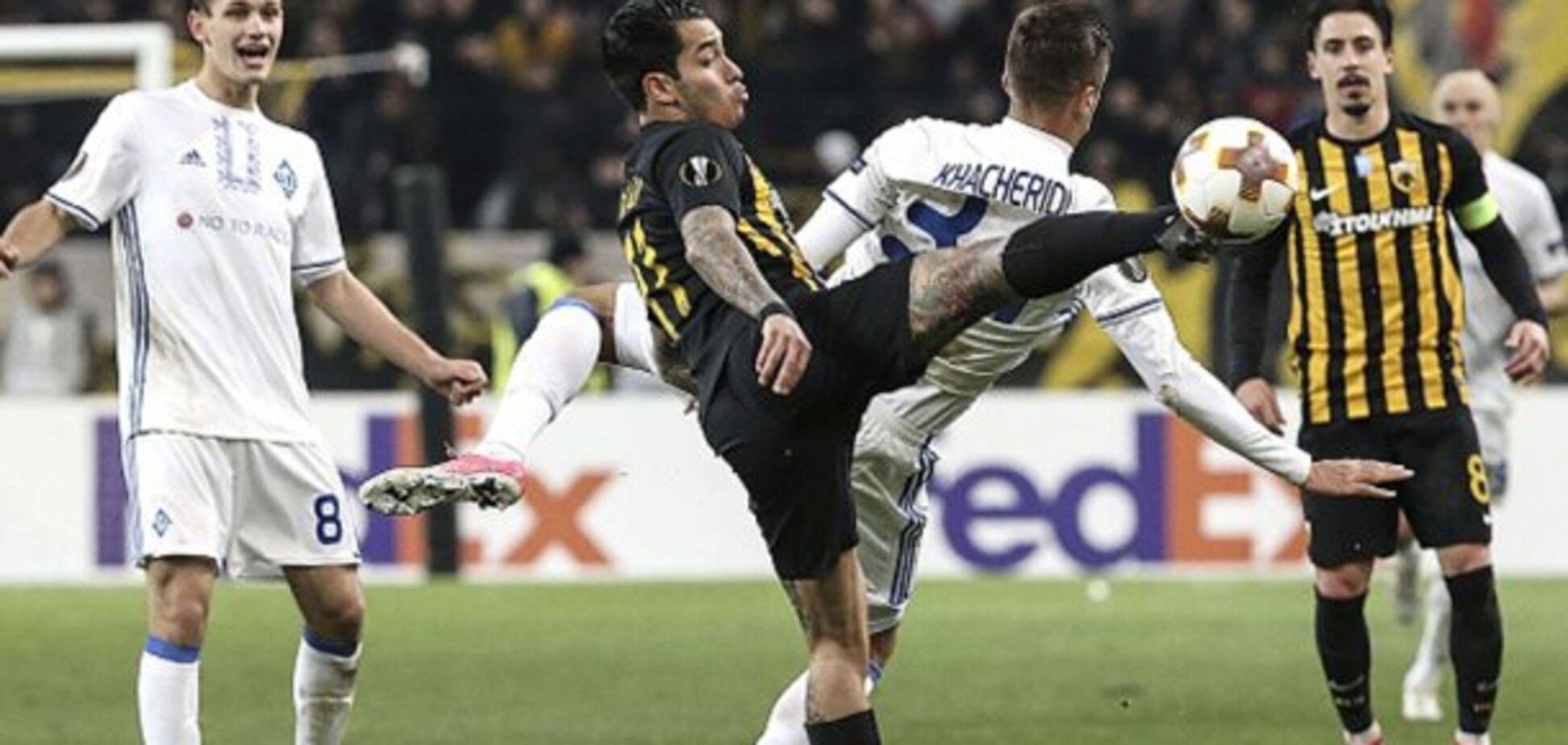 Динамо - АЕК: онлайн-трансляция матча 1/16 финала Лиги Европы