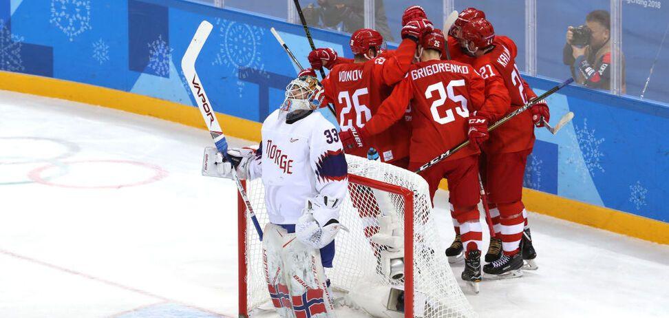 Российские хоккеисты вышли в полуфинал Олимпиады-2018 благодаря нелепому курьезу: видео