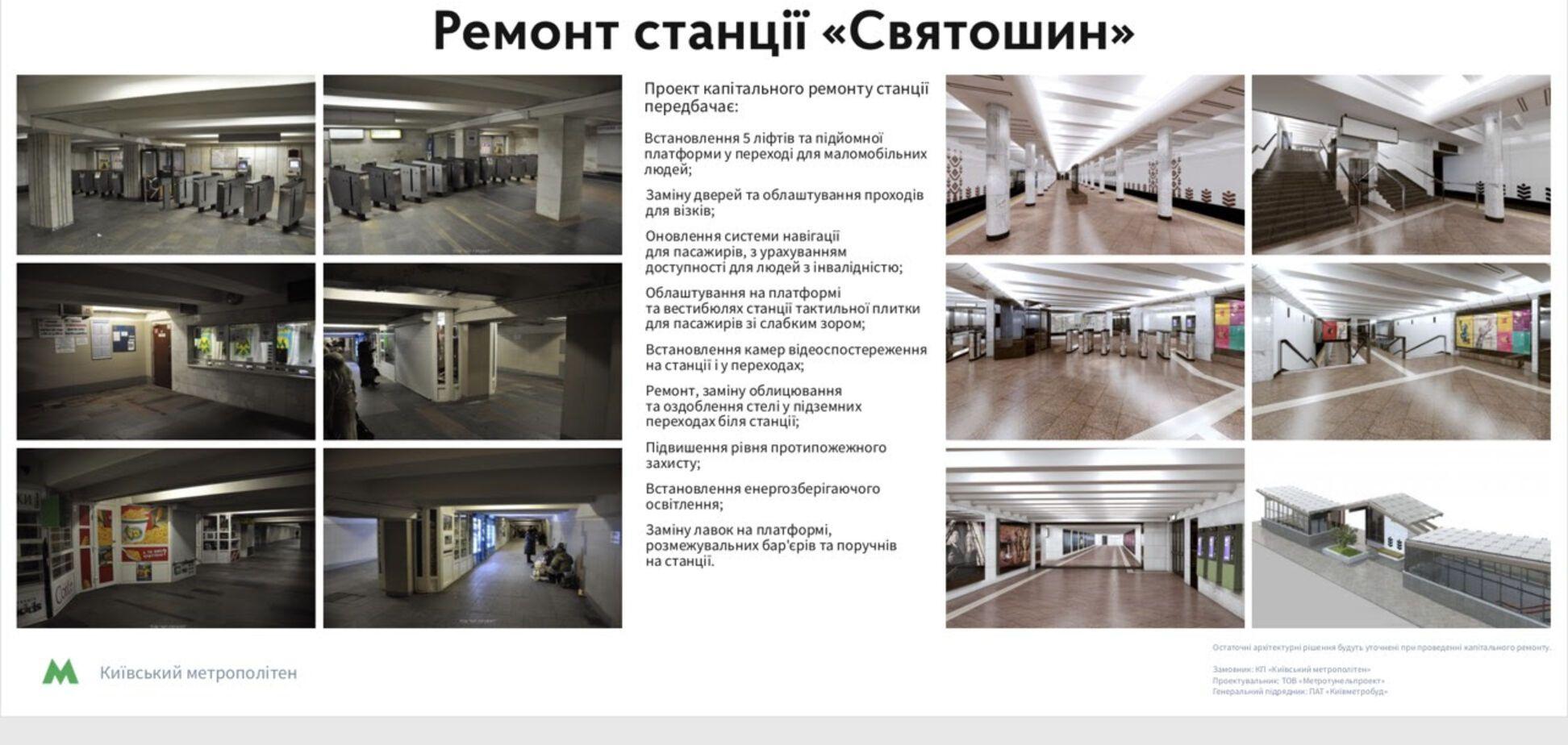 Ремонт на станции 'Святошин': сколько терпеть и что получим в итоге