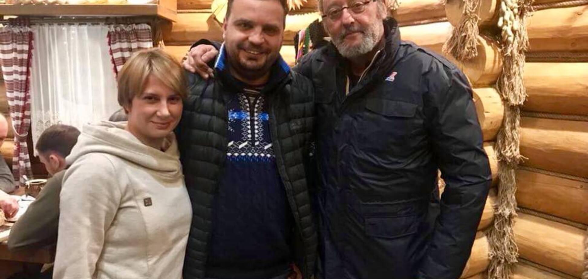 Жан Рено в Україні