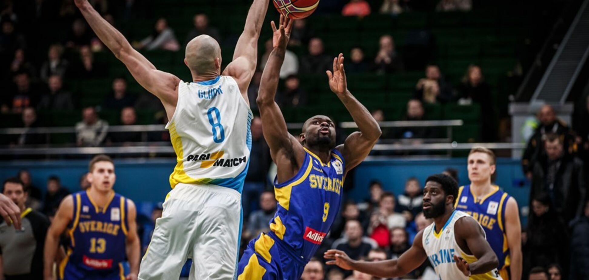 Збірна України впевнено обіграла Швецію у відборі Кубка світу з баскетболу-2019
