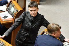 Ездившая к главарям 'Л/ДНР' Савченко голосовала за отмену 'реинтеграции Донбасса'