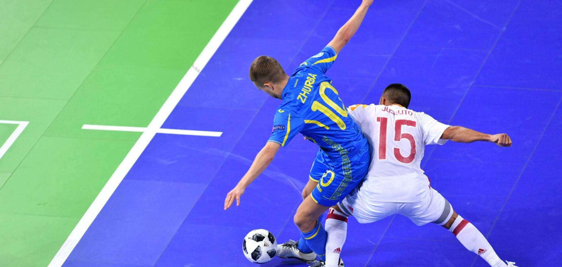 Україна драматично програла Іспанії в чвертьфіналі чемпіонату Європи з футзалу