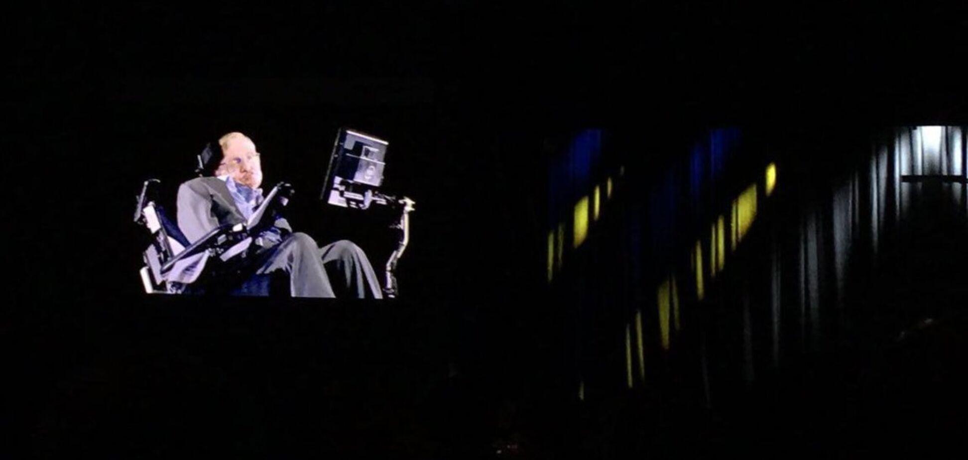 Голограмма Стивена Хокинга в Киеве