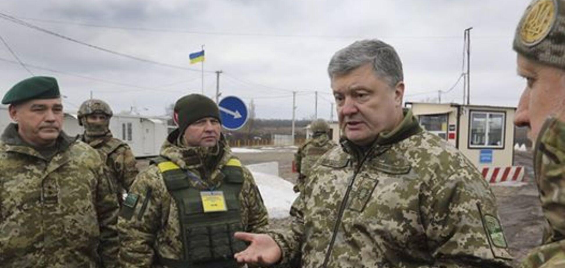 На линии фронта: Порошенко посетил зону АТО