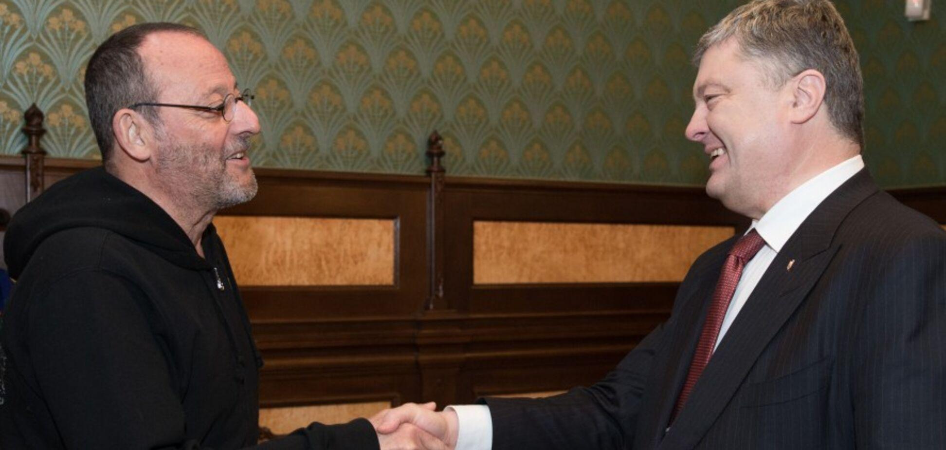 Жан Рено признался Порошенко, чем его поразила Украина