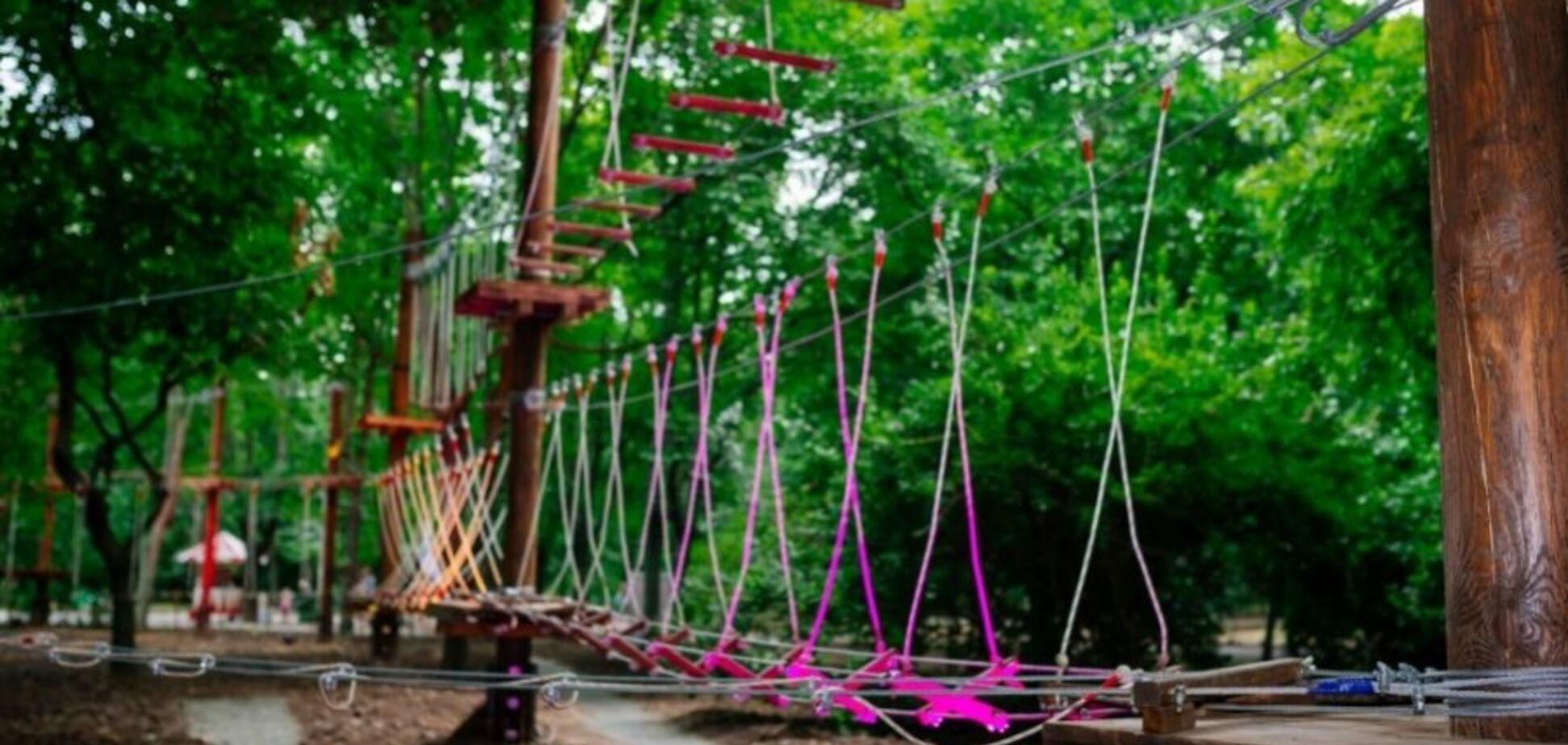 Під Харковом обладнають мотузковий парк