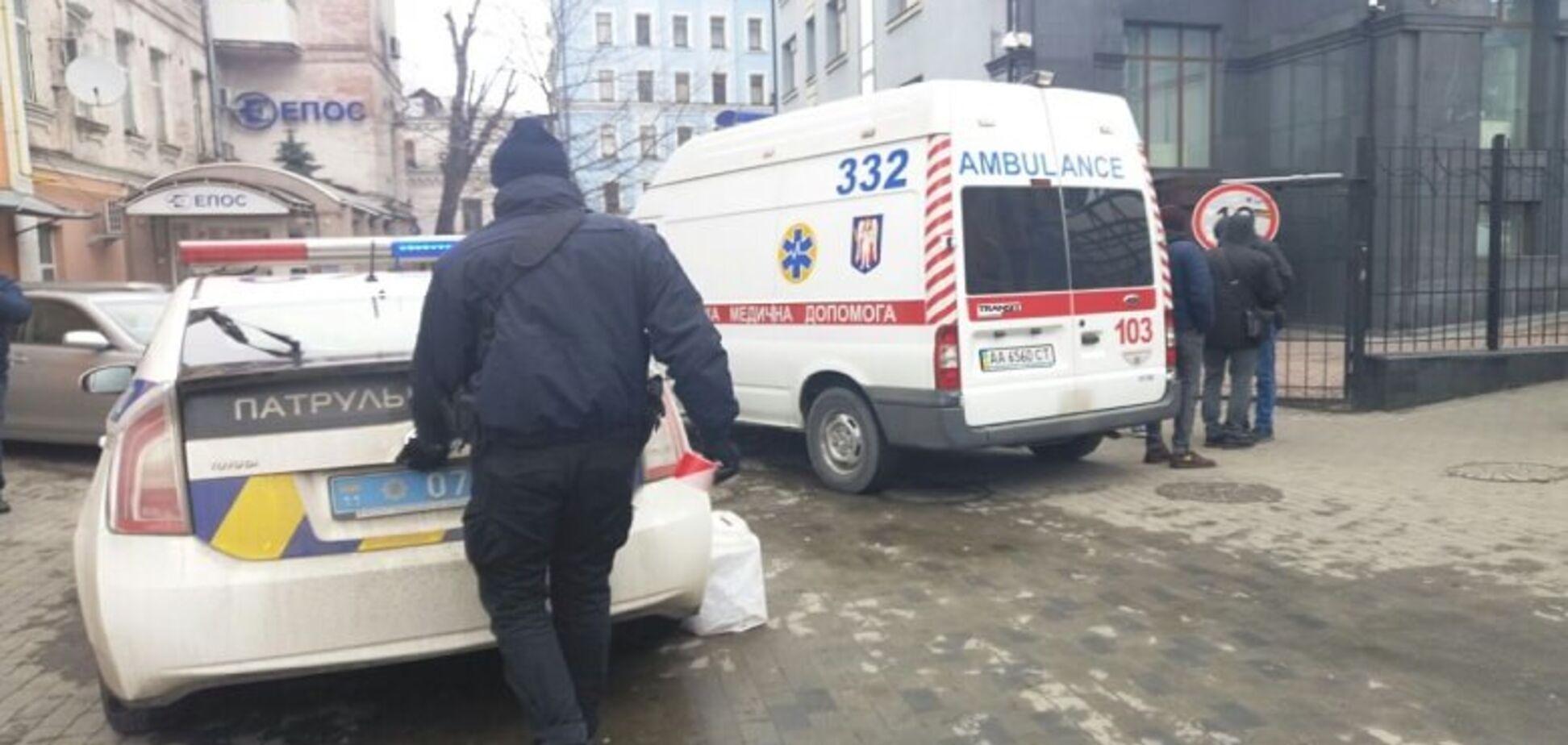 Место самоубийства мужчины в Киеве
