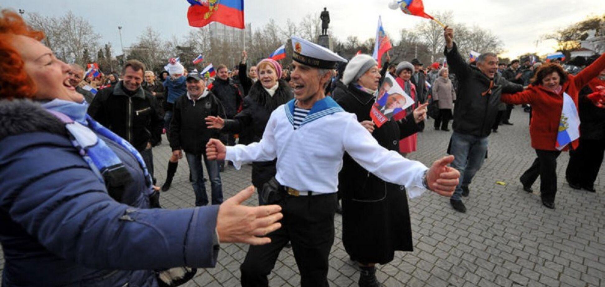 Флаг над туалетом: 'русский мир' высмеяли яркой карикатурой