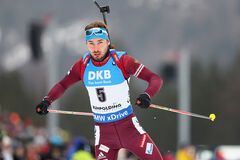 Лучший биатлонист России бездарно лишился 'серебра' в эстафете Кубка мира по биатлону