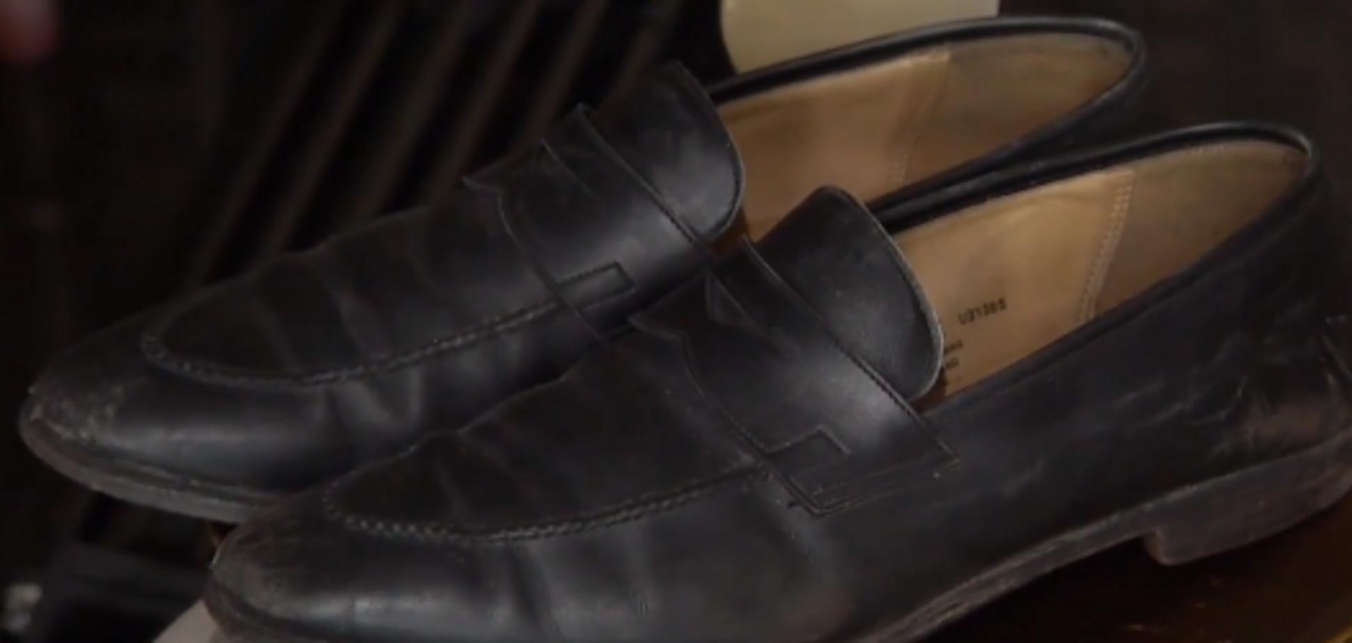 На крыше 'дома Саакашвили' нашлись загадочные элитные туфли