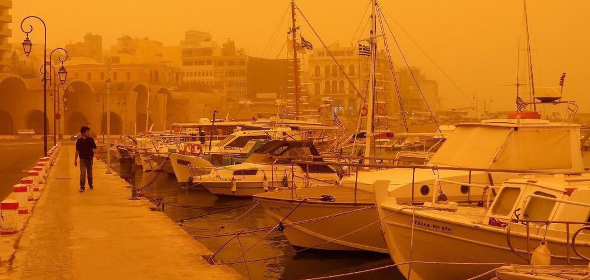 Ад на Земле: на Крит обрушилось необычное природное явление