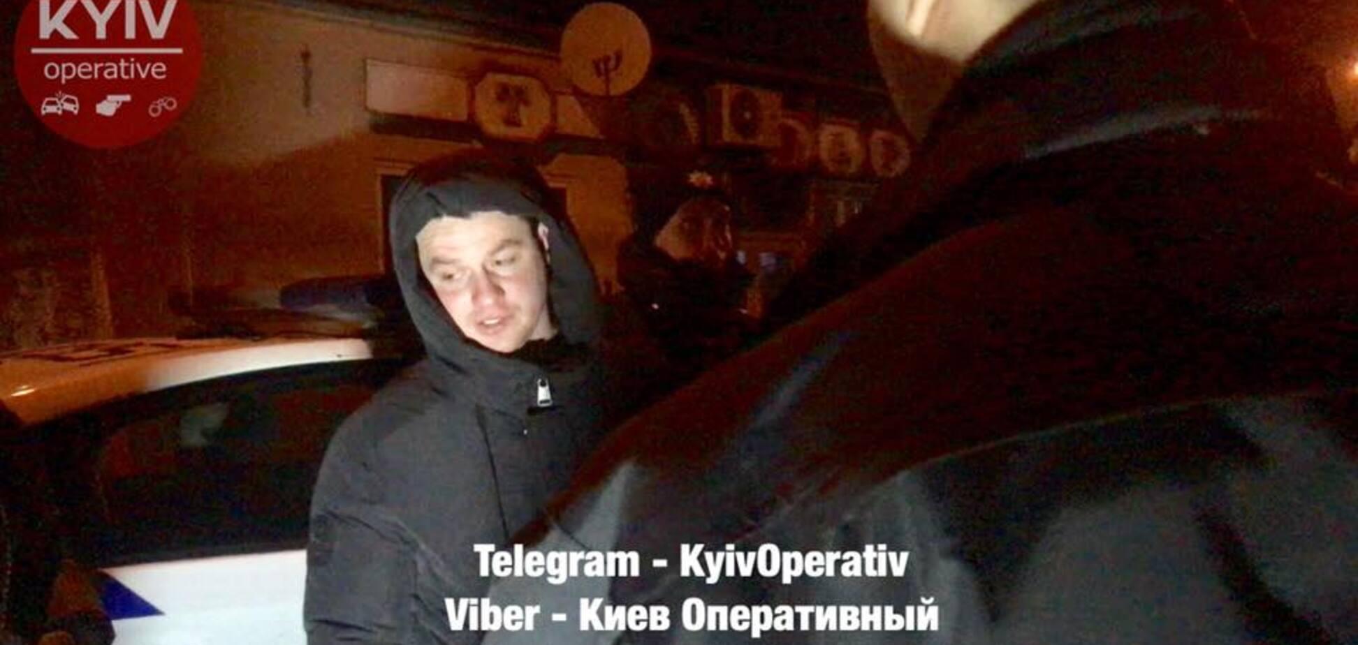 В Киеве поймали пьяным экс-главу патрульных Харькова