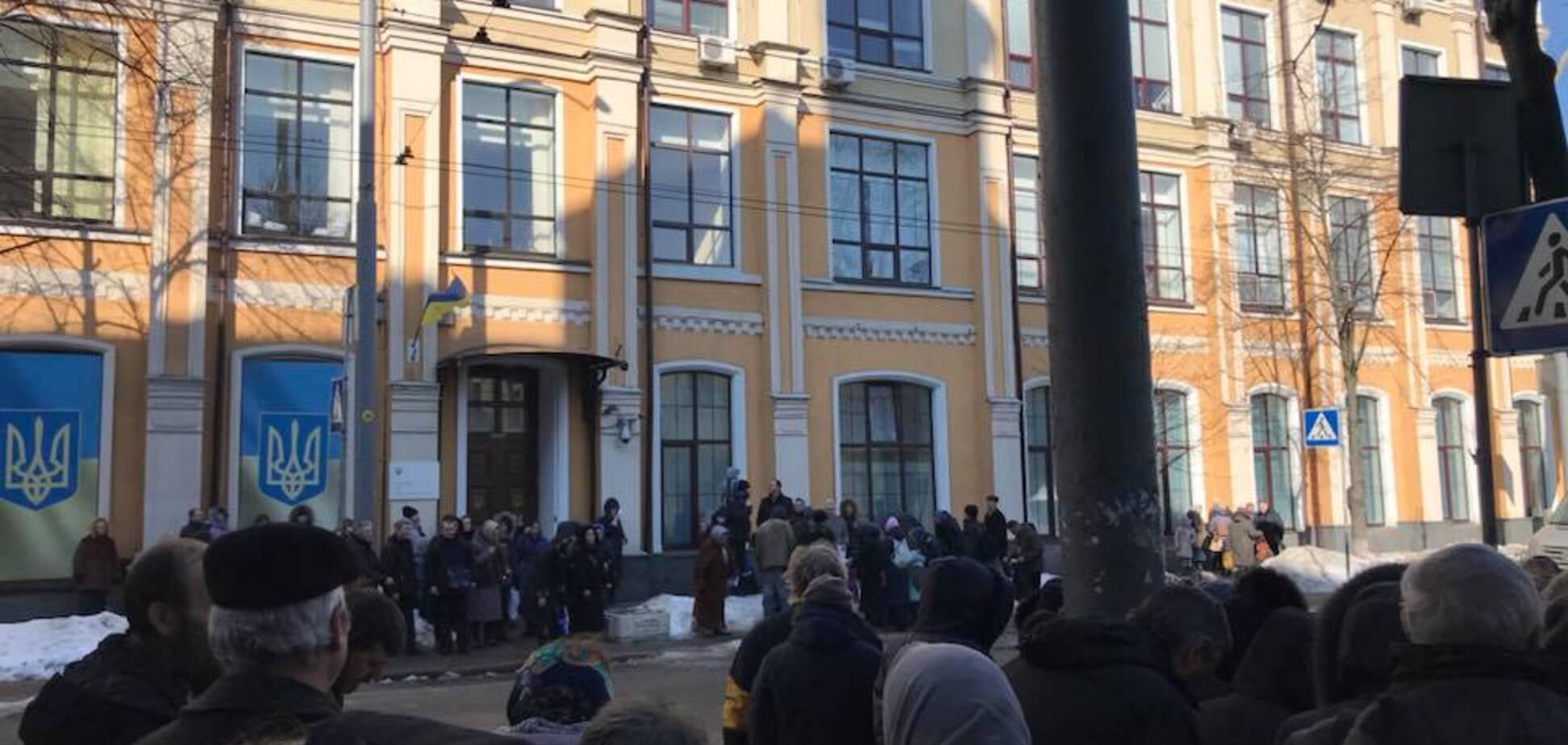 'В конвульсіях': УПЦ МП провела 'молебень' за скасування біометричних паспортів